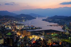 Nagasaki City view from Hamahira Japan